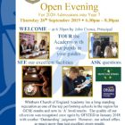Year 6 Open Evening 2019